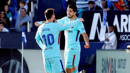 Barcelona venció de visita al Leganés y se mantiene en lo más alto de La Liga