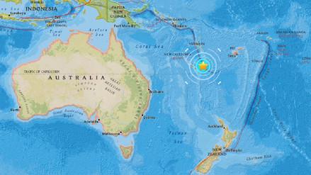 Un terremoto de 7 grados sacudió Nueva Caledonia, en el Pacífico Sur