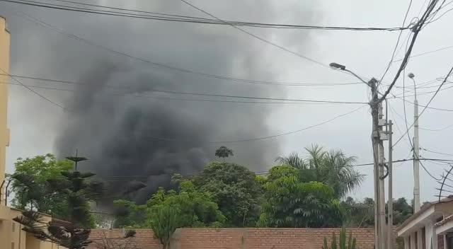 Controlan incendio en Parque de las Leyendas en San Miguel