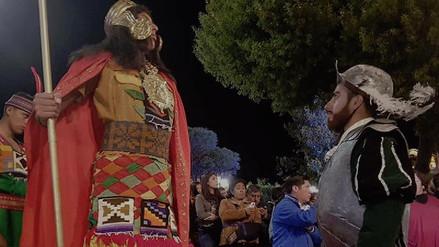 Más de 150 actores representaron el encuentro de Atahualpa y españoles