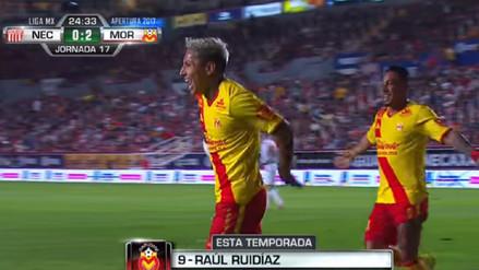 Morelia venció al Necaxa con gol de Raúl Ruidíaz