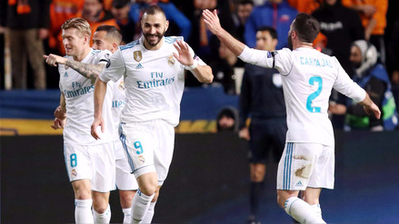 Karim Benzema anotó un doblete con el Real Madrid en la Champions League