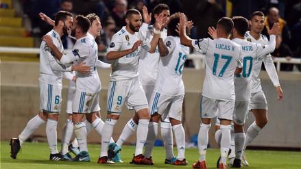 Real Madrid goleó 6-0 al APOEL y clasificó a los octavos de la Champions