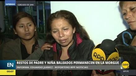 Madre de niña baleada: