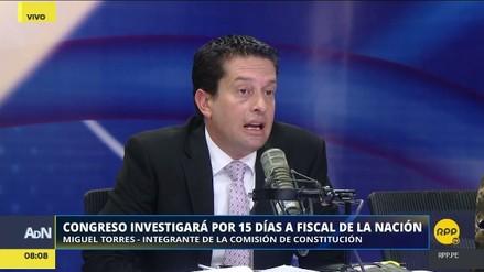 """Miguel Torres: """"Fuerza Popular necesitará el voto de otras bancadas para sacar al fiscal de la Nación"""