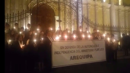 Fiscales realizan vigilia en respaldo a Pablo Sánchez