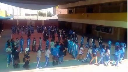 Estudiantes participaron en simulacro de sismo en Arequipa