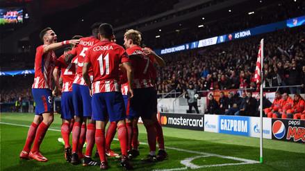 Atlético de Madrid venció a la Roma y sigue con vida en la Champions League