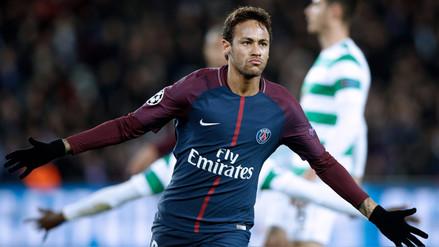Neymar anotó un golazo para el PSG con 8 pases previos y pared incluida