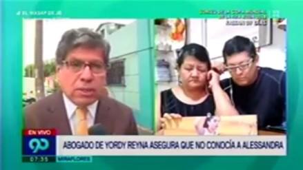 Yordy Reyna alquiló el departamento donde murió Alessandra Chocano