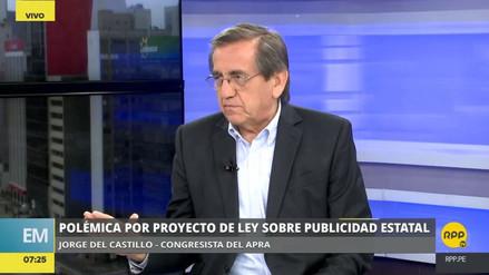 """Del Castillo: """"Es absurdo pretender cortar publicidad del Estado a privados"""""""