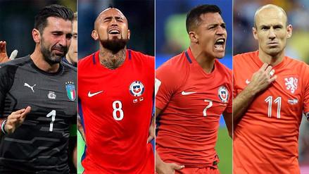 El once ideal de los grandes ausentes en el Mundial Rusia 2018