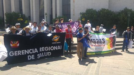 Varones realizaron marcha en rechazo a la violencia contra la mujer