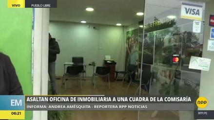 Delincuentes asaltaron la oficina de una inmobiliaria en Pueblo Libre