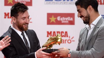 Lionel Messi recibió su cuarta Bota de Oro en medio de la espera del Barcelona por la renovación