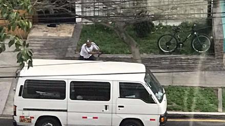 Las imágenes de la balacera y captura de delincuentes en San Isidro
