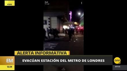 La Policía de Londres cerró una estación de metro tras el reporte de un tiroteo