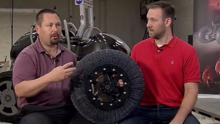 Video | La NASA fabrica una llanta 'superelástica' que no se desinfla ni se desgasta