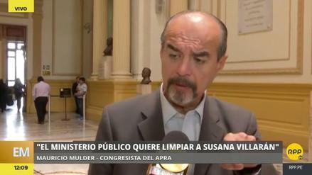 """Mulder: """"Da la impresión que el Ministerio Público quiere limpiar a Villarán"""""""