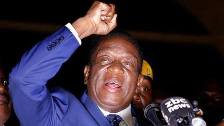 Emmerson Mnangagwa juró como presidente provisional de Zimbabue