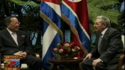 Raúl Castro recibió al canciller norcoreano, quien llevó un mensaje de Kim Jong-un