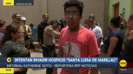 Unas cien personas intentaron invadir un hospicio de Barrios Altos