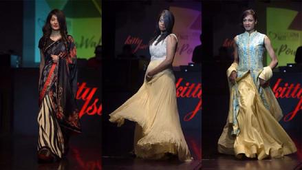 Mujeres víctimas de ataques con ácido desfilaron en pasarela de moda india