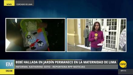 Abandonan a una bebé recién nacida en un jardín de San Borja