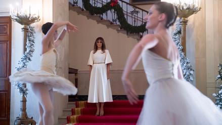 Melania Trump dejó su sello en su primera decoración navideña de Casa Blanca
