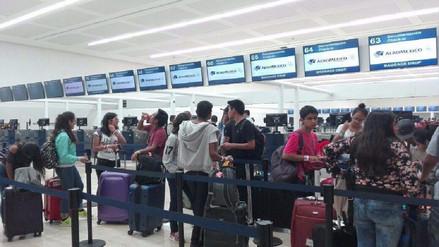 Promoción de escolares arequipeños quedó varado en México por huelga de pilotos