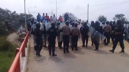 Agricultores bloquearon Panamericana Norte por importación de arroz