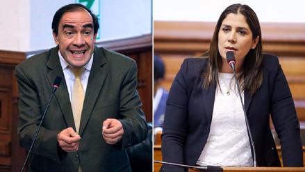 Lescano y Letona tuvieron duro intercambio de palabras en el Congreso