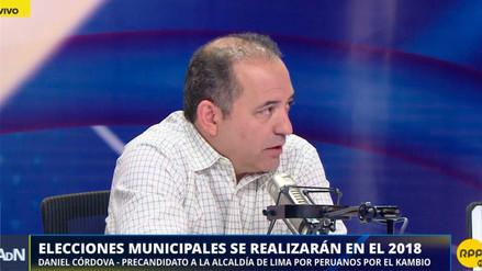 Daniel Córdova es precandidato a la alcaldía de Lima por Peruanos por el Kambio