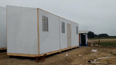 Indeci instala en Salas aulas y paneles a damnificados por El Niño costero