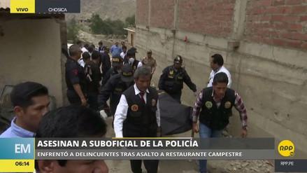 Matan a un policía durante el asalto a un restaurante campestre en Chosica