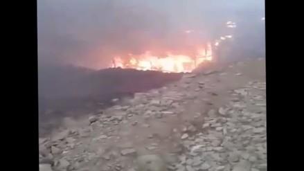 Incendio arrasó con tres casas precarias en Huaral