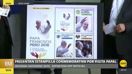 Presentan la postal y las estampillas oficiales por visita del papa Francisco al Perú
