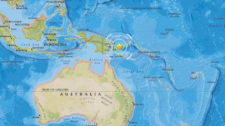 Un sismo de magnitud 6,0 se registró en Papúa Nueva Guinea