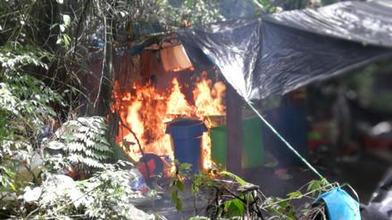 Destruyen cuatro laboratorios de droga en el Vraem