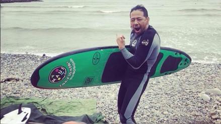 Shinsuke Nakamura se paseó por Lima y surfeó en la Costa Verde