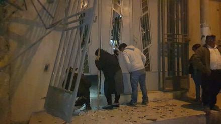Extorsionadores detonan explosivos en dos viviendas de Huamachuco