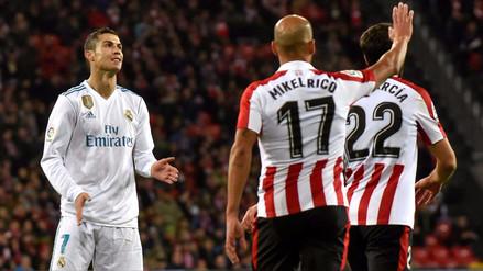 Real Madrid empató sin goles ante Athletic de Bilbao en San Mamés