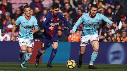 Barcelona empató contra Celta de Vigo y mantiene el invicto en La Liga