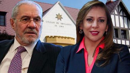 El decano del Colegio de Abogados de Lima se definirá en segunda vuelta