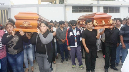 Sepultaron a pareja de esposos asesinados en Reque