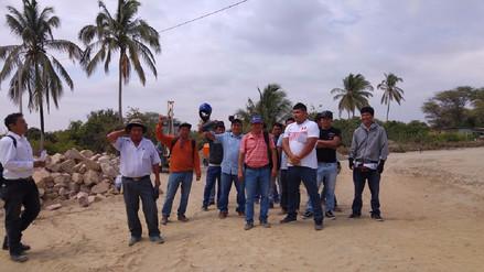 Pobladores de Medio Piura paralizan obras por presuntas irregularidades