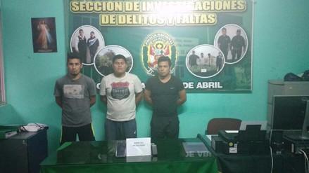 Chimbote: capturan a banda de extorsionadores que exigían mil soles