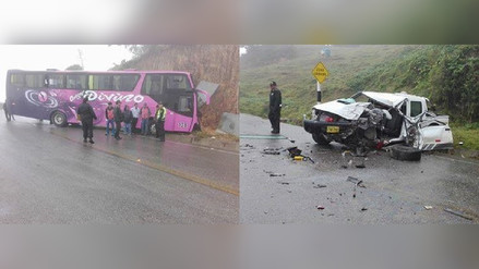 Choque de bus contra camioneta dejó siete heridos en Chota