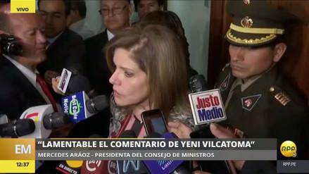 """Aráoz a Vilcatoma: """"Quiere destruir el marco democrático en el que vivimos"""""""