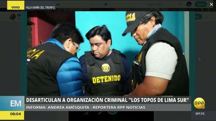 Desarticulan una banda integrada por funcionarios del municipio de Villa María del Triunfo